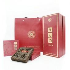 2021年番顺茶业125克红方韵百龄熟砖