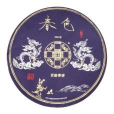 2021年番顺茶业400克春色百龄青饼